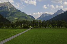 Mountains Landscape In Tirol Valley Stock Image