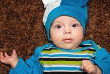 Free Blue-eyed Baby Stock Photo - 34186480