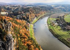 Free Saxon Switzerland View From Bastei Royalty Free Stock Image - 34186566