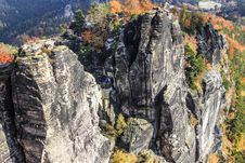 Free Bastei Rocks In Saxon Switzerland Germany Royalty Free Stock Images - 34187379