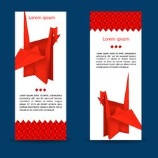 Free Red Paper Crane Origami Bird Stock Photos - 34187493