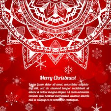 Free Invitation Christmas Card With Abstract Snowflakes Royalty Free Stock Photo - 34188545
