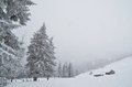 Free Snowfall In The Mountains Royalty Free Stock Image - 34194826