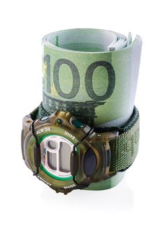 Watches And Banknotes Stock Image
