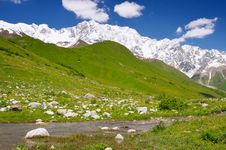 Mountain Shkhara Royalty Free Stock Images