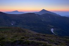 Twilight In The Mountains Stock Image