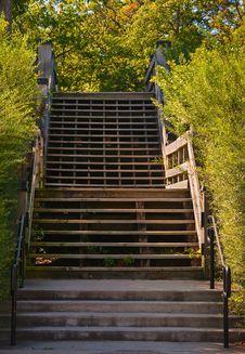 Free Wooden Staircase Stock Photo - 34195660