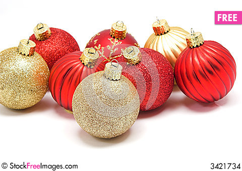 Christmas Ornaments Red/Gold - Free Stock Photos & Images ...