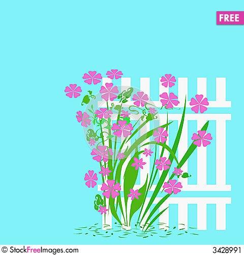 Free Garden Fence Stock Image - 3428991