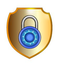 Free Shield With Padlock Royalty Free Stock Photo - 3420035