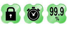 Free Web Icon Set Green Royalty Free Stock Photo - 3420205