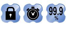 Free Web Icon Set Blue Royalty Free Stock Photography - 3420227