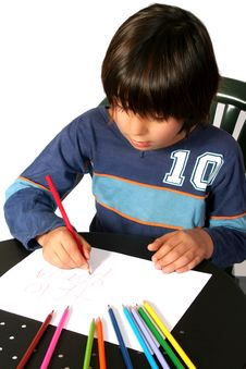 Free Boy Painting Stock Photography - 3420962