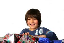 Free Boy With Gifts Stock Image - 3420991
