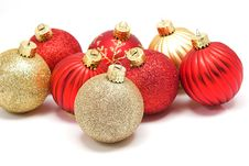 Free Christmas Ornaments Red/Gold Stock Images - 3421734