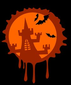 Free Old Castle Halloween Stock Image - 3422391