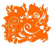 Free Orange Floral Pattern Stock Photos - 3422393