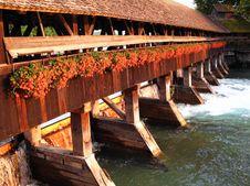 Free Swiss Traditional Bridge Stock Photo - 3423560