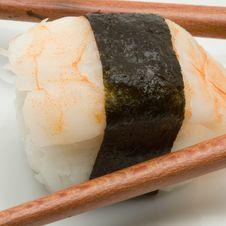 Free Japanese Sushi With Chopsticks Royalty Free Stock Image - 3423586