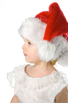Baby In Santa Claus Hat Royalty Free Stock Photo