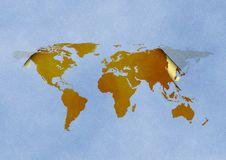 Free World Map Royalty Free Stock Photo - 3424165