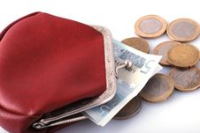 Free Old Wallet And Changes Royalty Free Stock Photography - 3425317