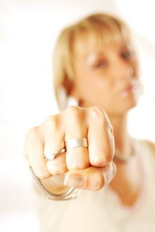 Free Woman Fist Stock Photos - 3425713