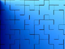 Free Blue Background Black Grid Royalty Free Stock Photography - 3426297