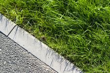 Free Grass With Pavement Stock Image - 3426801