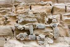 Weathered Ancient Stone Wall Royalty Free Stock Image