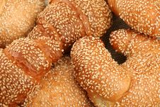 Free Fresh Sweet Rolls With Sesame Stock Images - 3427354