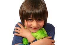 Free Boy With Teddy Stock Images - 3427414