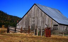 Old Idaho Barn 4 Stock Photos