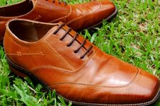 Free Men S Leather Shoes Stock Photos - 3429153