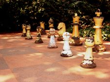 Free Ruined Wooden Chessmen-I Royalty Free Stock Images - 3429339