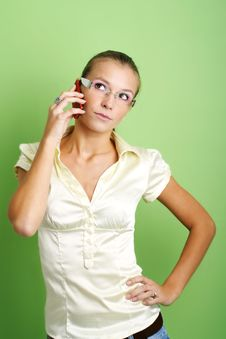 Free Calling Business Woman Stock Photos - 3429483