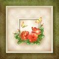 Free Border Frame Background Flower Butterfly Design Stock Photos - 34202873