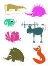 Free Cartoon Animals Stock Photo - 34204190