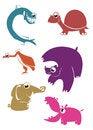 Free Cartoon Animals Stock Image - 34206451