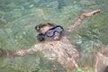 Free Little Girl Lying In Sea Stock Image - 34206591