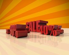 Sale Discount Set With Percents And Volume 3D Font Royalty Free Stock Photo