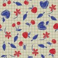 Free Seamless Pattern Sketch With Fruit And Berries Royalty Free Stock Photos - 34214988