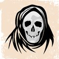 Free Black Death Monster Halloween Concept. Stock Photos - 34215563