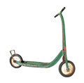 Free Old Child's Push Scooter Isolated Stock Image - 34217791