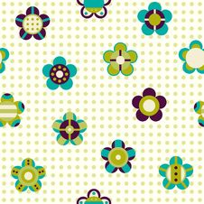 Free Seamless Pattern With Flowers On A Background Royalty Free Stock Photography - 34210057