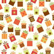 Free Seamless Background With Gifts Royalty Free Stock Image - 34210096