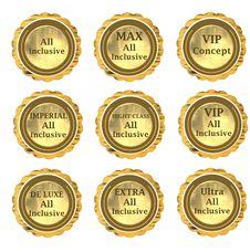 Hotel Accomodation Label Set Stock Photo