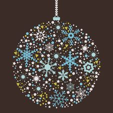 Free Christmas Balls Background Stock Photo - 34211960