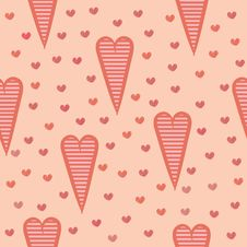 Free Seamless Pattern With Hearts Stock Image - 34215051