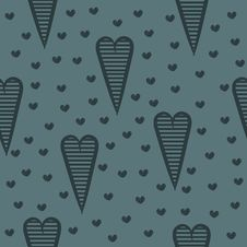 Free Seamless Pattern With Hearts Stock Image - 34215071